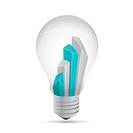 idea light bulb business graph illustration