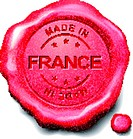 made in France red wax seal