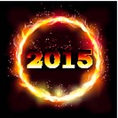 Fire 2015 new year background