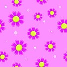 seamless background of pink flowers