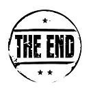 Black vector grunge stamp THE END