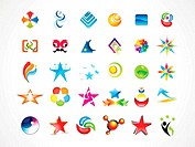 abstract multiple business icons