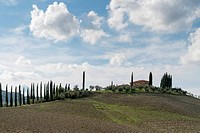 Tuscany countryside landscape in Val D'Orcia, Italy