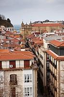 Buildings in the old part of San Sebastian