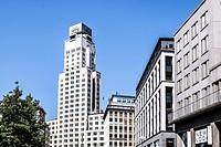 "The Boerentoren (English: """"Farmers´ Tower""""; officially KBC Tower, originally the Torengebouw van Antwerpen) is a tall building in Antwerp, Belgium. ..."