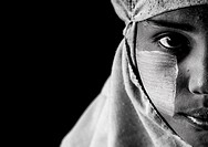 Rohingya Woman With A Muslim Veil, Thandwe, Myanmar.