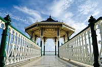 The Bandstand on the Brighton and Hove seafront in summer, East Sussex, England.