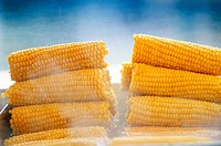 Street Food, Boiled Corn. . . . .