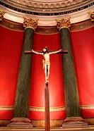 Jesus statue in the church of La Madeleine in Albi, Tarn, France.