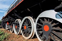 Steam train wheels, Railway Museum, Livingstone, Zambia