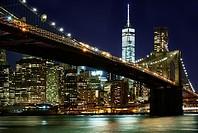 New York City, Brooklyn Bridge, Freedom Party, Manhattan, Skyline