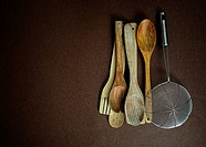 kitchen utensils.