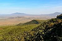 Scenic View of the Great Rift Valley Escarpment. Kikuyu Escarpment. Kenya.