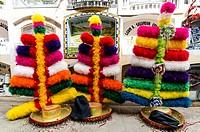 Negritos folk parade in Huanuco. Peru.