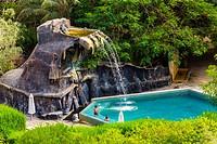 Swimming pool, Evason Ma´in Hot Springs Resort, Jordan.