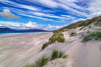 Beach and sea at Traigh lar North Uist Hebrides.