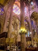 Cathedral Palma de Mallorca. Balearic Islands. Spain.