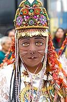 Procession of the Virgin of Carmen de Paucartambo (Mamacha Carmen) in Lima.Perú.