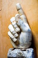 Colossal statue of Constantine (306-337 d. c. ). Right hand. Musei Capitolini - Rome, Italy.