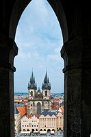 Church of Our Lady before Týn, Old Town Square, Prague, Czech Republic, Europe.