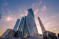 Moscow City: financial district.