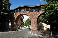 D-Worms, Rhine, Upper Rhine, Rhenish Hesse, Rhine-Neckar area, Rhine-Main district, Rhineland-Palatinate, Jewish quarter, Raschi town gate, town wall,...