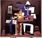 Pablo Picasso, Three Musicians (1921), Museum of Modern Art, New York. Three Musicians is the title of aoil paintings by Spanish artist Pablo Picasso....