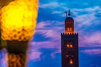 Tower of the Koutoubia mosque, Marrakech, Morocco