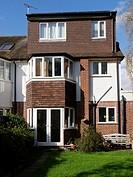 uk, england, surrey, house with dormer window.