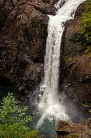 Elk Falls - Elk Falls Provincial Park and Protected Area - Campbell River, Vancouver Island, British Columbia, Canada.