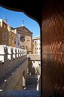 Door detail in the 15th century Lonja de la Seda (Silk Exchange), Valencia, Spain