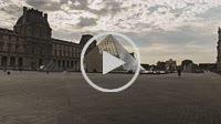 Hyperlapse at Louvre Pyramids. Paris. France