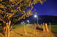Itxaussu is a picturesque village in the Basque country France. Nightscape.