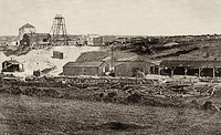 The Bunmahon Copper Mine workings at the Bonivy Shaft 1875,. The Copper Coast Geopark, . County Waterford, Ireland.