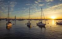 San Diego Harbor sunset. San Diego, California, USA.