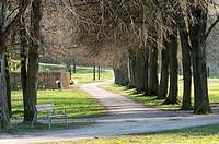 Botanica Park Recreational Area in Early Spring, Bad Schallerbach, Austria