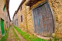 Batipuerta,Traditional Door, Candelario, Ruta de la Plata, Salamanca, Castilla y León, Spain, Europe.