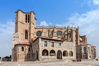 Church of Santa Maria de la Asuncion, Castro Urdiales village in Cantabria, Spain.
