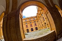 Patio de los Estudios, Church of La Clerecía, Pontifical University, Baroque Style,18th century, Salamanca, UNESCO World Heritage Site, Castilla y Leó...