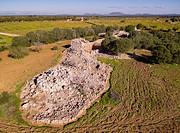 Prehistoric settlement of Capocorb Vell, Talayotic culture, early millennium before Christ,Iron Age, Llucmajor, island of Mallorca, Balearic Islands, ...