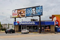 USA, Tennessee, Memphis, billboard advertising for Elvis Presley's Graceland.