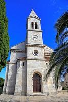 St Michael's Church, Dol, Hvar Island, Croatia, Dalmatia, Dalmatian Coast, Europe.