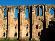 Refectory Ruins at Dunfermline Abbey and Palace Dunfermline Fife Scotland.