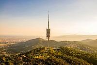 Torre de Collserola - TV tower in Barcelona, Spain