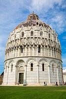 The Baptistry, Campo dei Miracoli, Pisa, Italy.