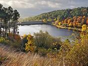 Pajarero's reservoir in the Sierra de Gredos. Santa Maria del Tietal. Avila. Castilla Leon. Spain. Europe.
