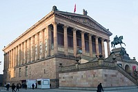 Old national gallery in Berlin.