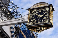 Closeup Guildhall Clock Guildford Surrey.
