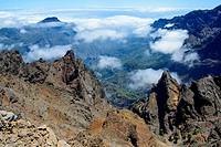 Caldera de Taburiente desde el Roque de los Muchachos. La Palma. Islas Canarias. España. Europa.