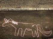 Street art of a child.